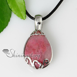 oval semi precious stone glass opal tiger's-eye rose quartz amethyst necklaces pendants Spsp50056 precious stones jewellery
