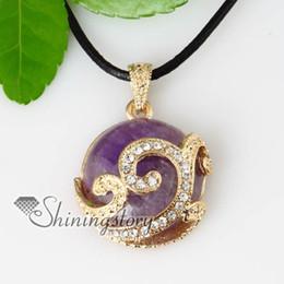 teardrop semi precious stone rose quartz tiger's-eye amethyst crystal rhinestone pendants Spsp70074 handmade fashion jewellery