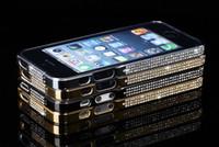 Wholesale 20pcs Luxury Diamond Bling Crystal Bumper Aluminium Metal Hard Case Cover For iphone G