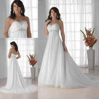 Wholesale Sheath Empire Sweetheart Chapel Maternity Wedding Dress