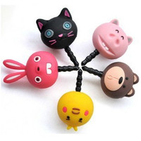 Wholesale Cell phone Headset Dustproof Dust Plug Iphone Dust Plug Cartoon Cat Bear Bird Rabbit Pig