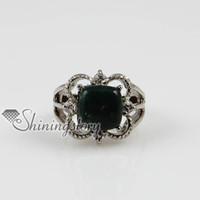 Gift mens jewelry cheap - flower openwork birth stone ring handmade stone jewelry Mens fashion jewelry Spsr5007 Cheap fashion jewelry