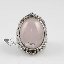 oval semi precious stone natural rose quartz tiger's-eye amethyst finger rings jewelry Spsr7008 cheap china fashion jewellery