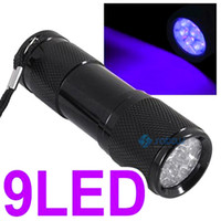 n/a 160lm LED Flashlight UV Ultra Violet 9 LED Flashlight Torch Light Lamp 3 AAA