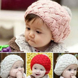 Wholesale Sleeve caps for babyHat children s ice cream beret baby fashion hat wool cap autumn and wi