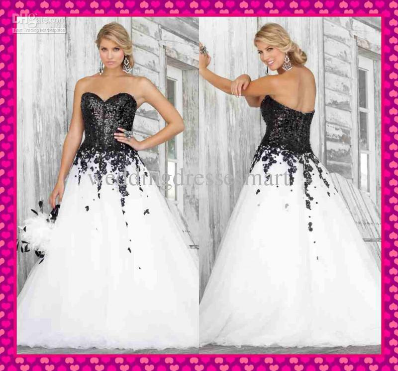 Corset Wedding Dresses Black And White