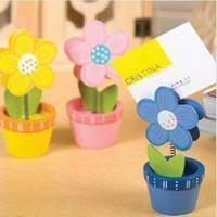 Wholesale Wooden card stock notes folder clip business card box DM