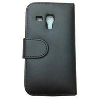 Leather For Samsung For Christmas Siii mini case Leather Case Wallet for Samsung Galaxy S III S3 Mini i8190 Card Slot