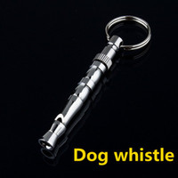 Wholesale New Arrival Pet Dog Training Adjustable Ultrasonic Sound Metal Whistle Keychain High Pitch