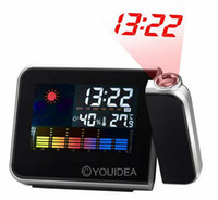 Digital   Cheap Mini Desktop Multi-function Digital LCD Screen LED Projector Alarm Clock Weather Station 80320