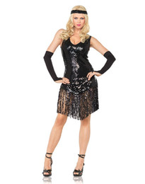 Wholesale Slinky Sequin Latin Dance Wear With Gloves Black Ballroom Dresses For Womens Dancing Party Costumes CB9254