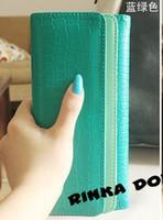 Cuir de qualité supérieure bourse d'embrayage portefeuilles Portefeuille double flip texture de pierre Ladies Wallet Lady LH1