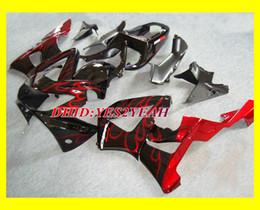 Injection Fairings set For HONDA CBR900RR CBR 900 RR 2000 2001 Bodywork CBR 900RR 929 00 01 Red flames Fairing Body kit