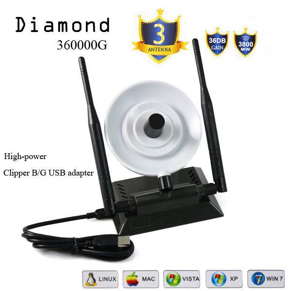 vente en gros de wifi amplificateur diamond 360000g adaptateur avec double antenne r seau carte. Black Bedroom Furniture Sets. Home Design Ideas