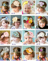 Wholesale 50pcs Christmas Baby colorful Flower Headbands Hairband Baby Christmas Baubles baby Hair Accessory