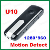 Wholesale Hot Selling Spy Camera USB Flash Drive Recorder U10 Mini Camcorder Motion Detection