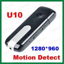 Wholesale Hot Selling Spy Camera USB Flash Drive Recorder U10 Mini Camcorder Motion Detection