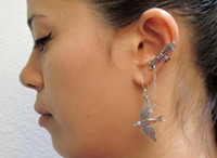arrow eagle - SP107 Beautiful Compound Eagle and Arrow Earring Dangle Chian Drop shipping
