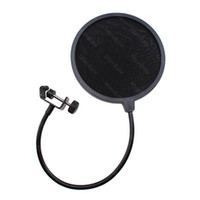 Wholesale AGPtek inch dual Flexible studio microphone Mic wind screen Clamp On Microphone Pop Filter MS26