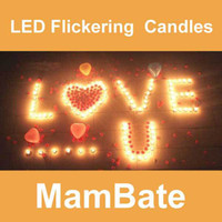 Wholesale 100pcs LED Smokeless flameless Flickering Battery Candles Tea Light Christmas Promotions off New DE20S