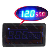 Wholesale 100V A DC Digital blue Red LED Combo Panel Amp Meter Voltmeter with Shunt iT71