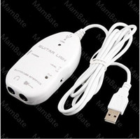Wholesale New Guitar to USB Interface Link Audio Cable For PC MAC Recording Record Adapter UG1W