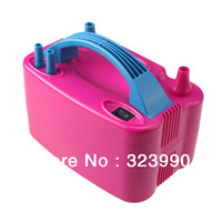 Wholesale 110V Two Nozzle High Speed Electric Balloon Inflator Pump Portable Red Air Blower BP2