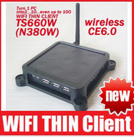 Wholesale TS660W N380W Wireless Win CE OS Terminal Thin Client Net Computer Sharing Support Winows7