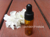 essential oil glass bottle - 50PCS ML AMBER GLASS EYE DROPPER BOTTLE VIALS ESSENTIAL OIL BOTTLES NEW EMPTY
