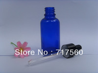 Glass blue bottle cobalt glass - 10pcs oz ml Cobalt Blue Glass Dropper Bottles Empty New Vials For Essential Oil Packing