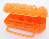 Wholesale ZITRADES Plastic Folding Camping Picnic Hiking Egg Holder Container Keeper Hard Case Box With Handle