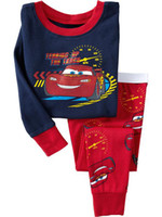 Wholesale baby pajamas Long sleeve PJ S suit underwear kids tshirts sleepwear bodysuit sets lovely
