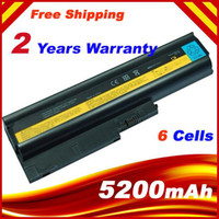 Wholesale 5200mAh Cells Replacement LAPTOP BATTERY FOR IBM LENOVO T60 T61 R60 R61 SL300 SL400 W500
