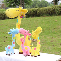 Wholesale super cute plush cm toy lover creative giraffe gift home decoration color inches