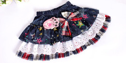 Wholesale Hot sale Girls skirts dot denim skirts baby pettiskirts p l