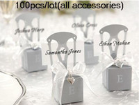 Wholesale Wedding cake boxes Miniature Silver Chair Wedding Favor Box all accessories including