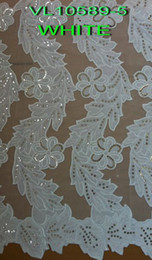 Wholesale african lace fabric french velvet lace yard