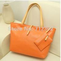 Wholesale 2013 Europe Fashion Street Women Lady Handbag Soft PU Leather bag Tote Purse Shoulder Bag
