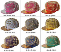 Wholesale Adjustable Punk Snapbacks Snapback Snap Back Hats Caps Baseball New Design Rivet Hat Cap Many Colour