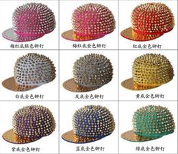 Adjustable Punk Flat Snapbacks hats hiphop hip hop Snapback Snap Back Hats Caps Baseball New Design Rivet Hat Cap Many Colour