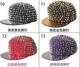 Adjustable Punk Hiphop Snapbacks Rivet Snapback Snap Back Hats Caps New Design Hat Cap 19 Colours