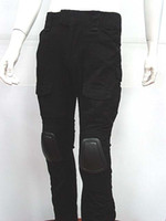 Wholesale Airsoft Gen Style Tactical Combat Pants with Knee Pads Black Hunting Pants