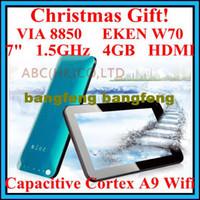 Wholesale Christmas gift Cheap Tablet PC VIA Capacitive upgrade Ainol Tornado Android G EKEN W70 MI