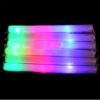 200pcs/lot led mousse stick clignote mousse bâton de lumière jusqu'à la liesse de la mousse de bâton mousse éclat de bâton de led stic