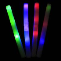 Tiges colorées LED mousse bâton clignotant mousse bâton, acclamations lumière mousse de bâton lumineux mousse conduit