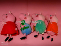 Wholesale Hard wash peppa pig amp george pig plush Mom amp Daddy large size cute kids toddler toys pink