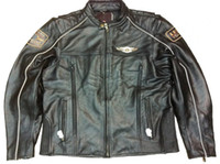 Wholesale 2013 Men s th Anniversary genuine Leather Jacket VM motorcycle jacket