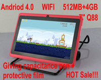 Wholesale 7 inch Allwinner A13 Boxchip Q88 GHz Android ICS Tablet Camera RAM MB GB GB