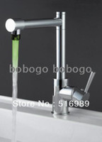 Cheap 3 Color led bathroom brass basin Kitchen sink mixer tap mixer chrome Faucet CT116