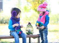 Wholesale Children baby coin scarf hat color balls candy colored winter warm models suit drop shipping